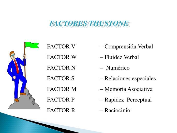 FACTORES THUSTONE