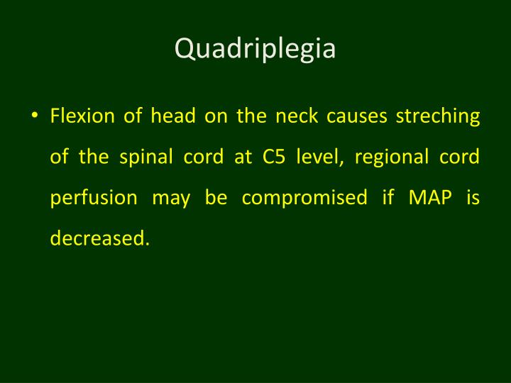 Quadriplegia