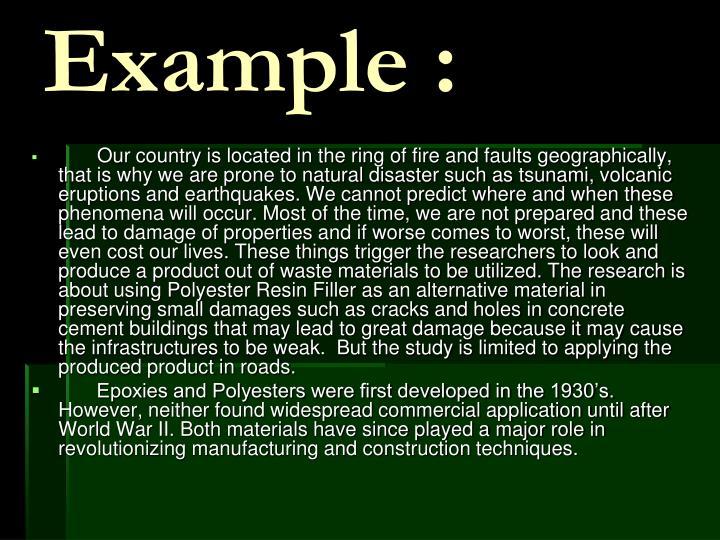 Example :