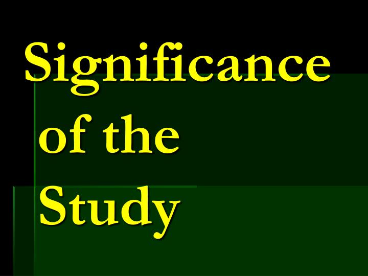 Significance