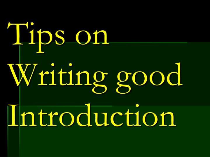 Tips on