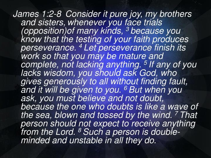 James 1:2-8