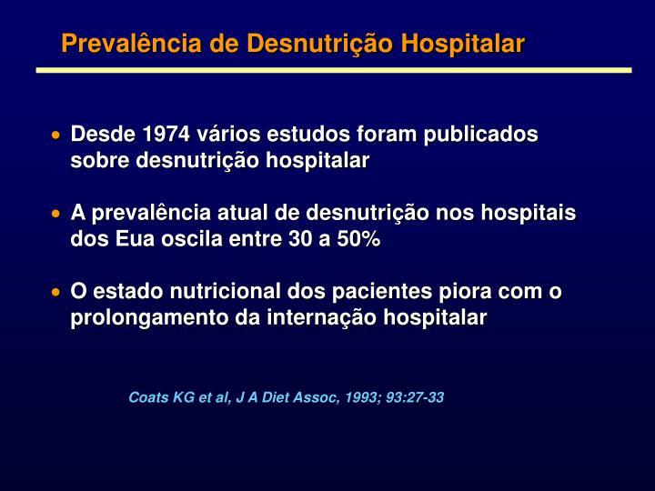 Prevalência de Desnutrição Hospitalar