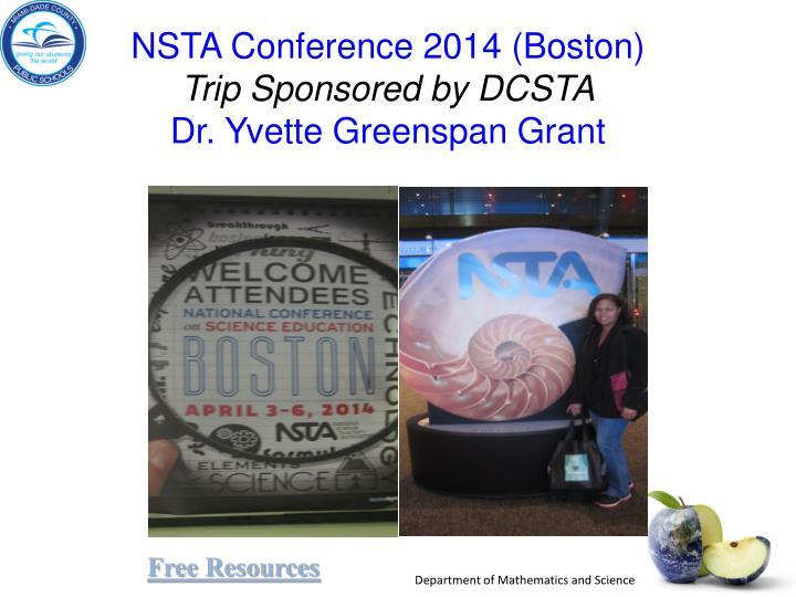 NSTA Conference 2014 (Boston)