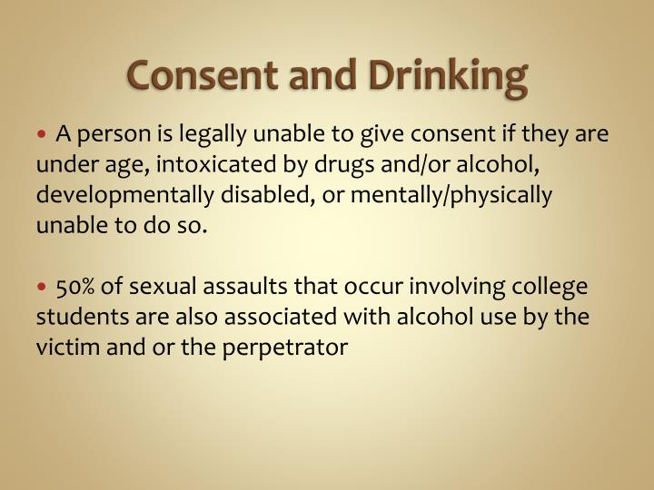 Consent and Drinking