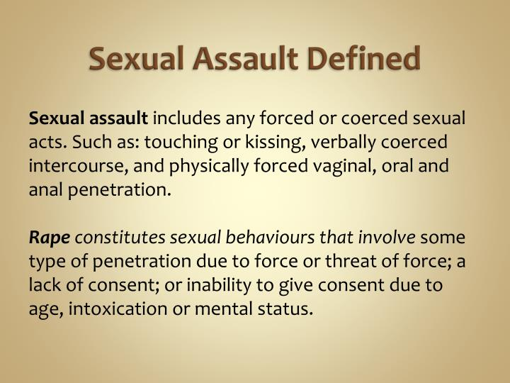 Sexual Assault Defined