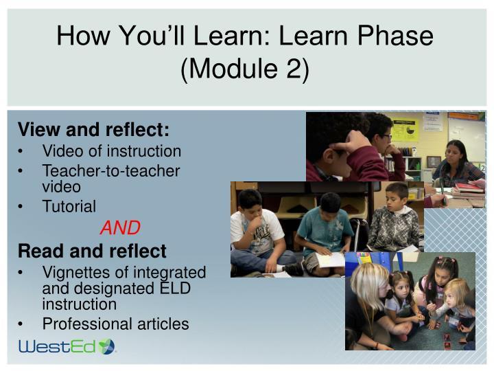 How You'll Learn: Learn