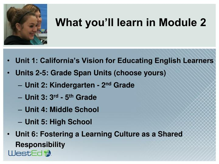 What you'll learn in Module 2