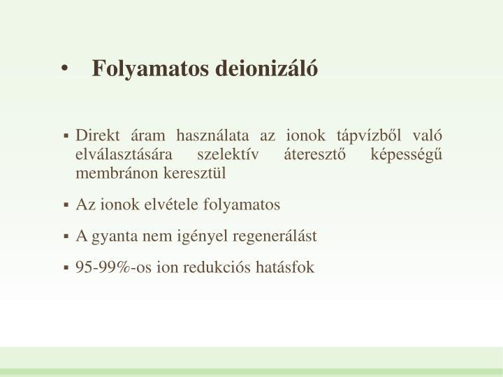 Folyamatos deionizl