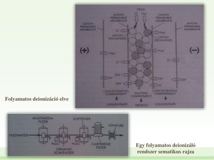 Folyamatos deionizci elve