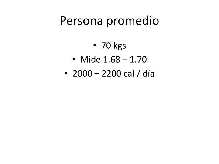 Persona promedio