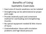 benefits of using isometric exercises