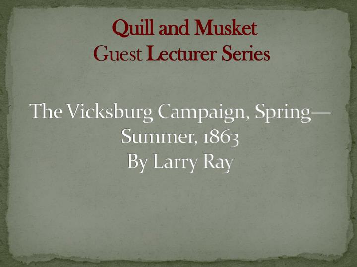 Quill and Musket