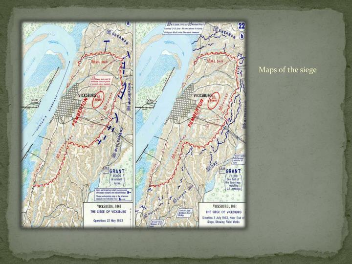 Maps of the siege