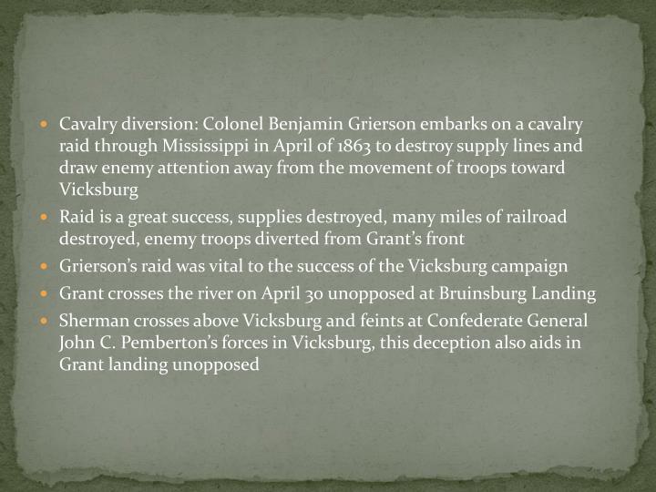 Cavalry diversion: Colonel Benjamin