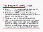 the battle of kettle creek
