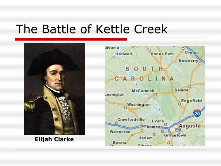 The Battle of Kettle Creek