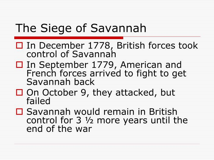 The Siege of Savannah