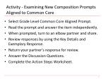 activity examining new composition prompts aligned to common core