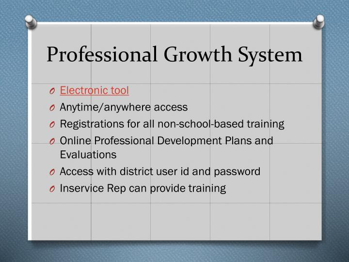 Professional Growth System