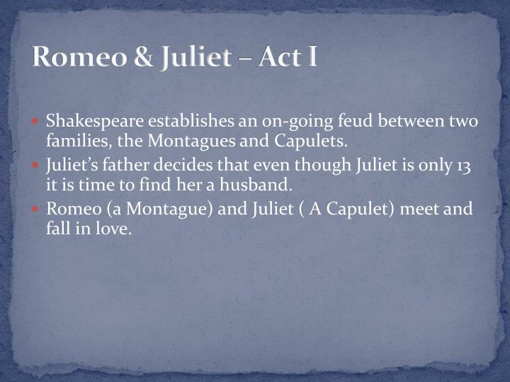 Romeo & Juliet – Act I