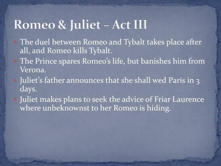 Romeo & Juliet – Act III