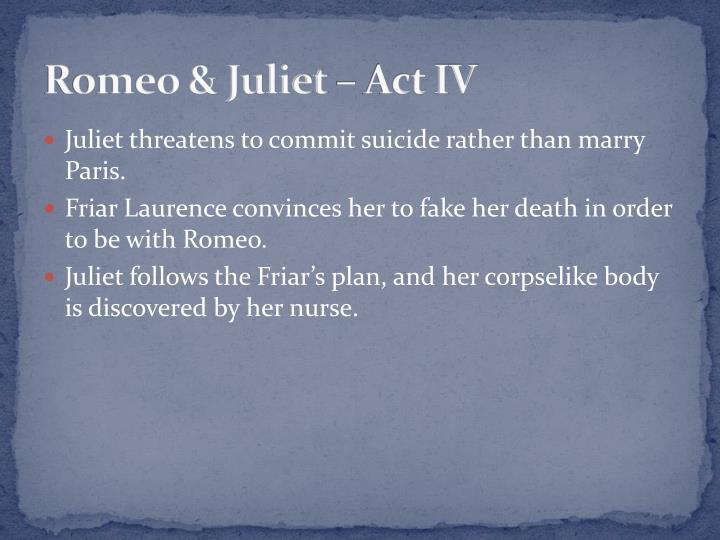 Romeo & Juliet – Act IV