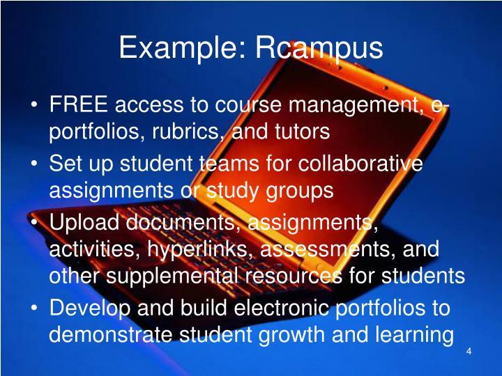 Example: Rcampus