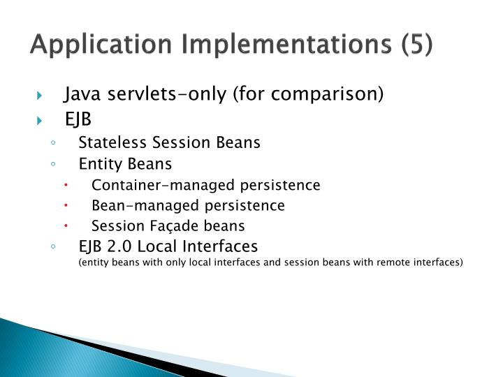 Application Implementations (5)