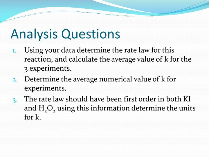 determination of a rate law lab