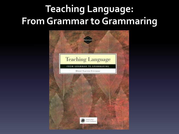 Teaching Language: