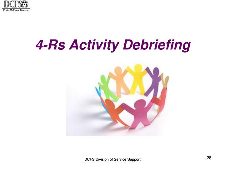 4-Rs Activity Debriefing