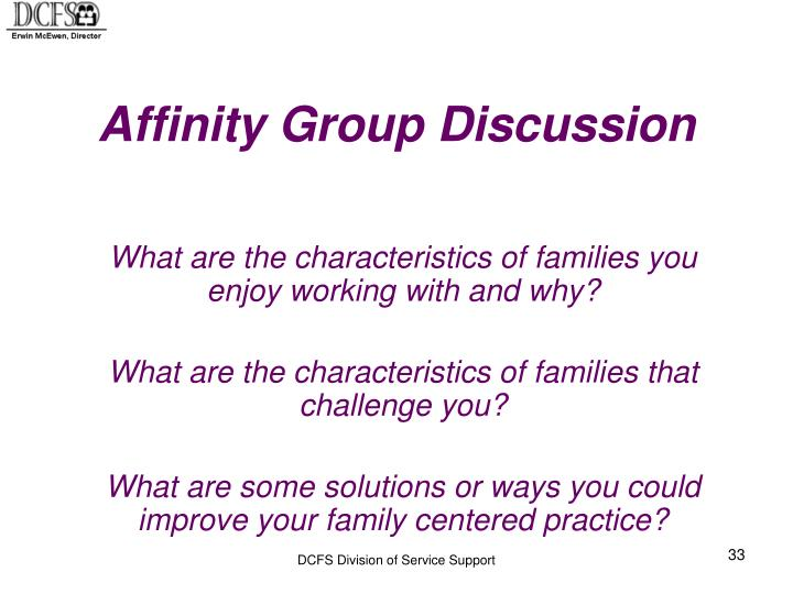 Affinity Group Discussion