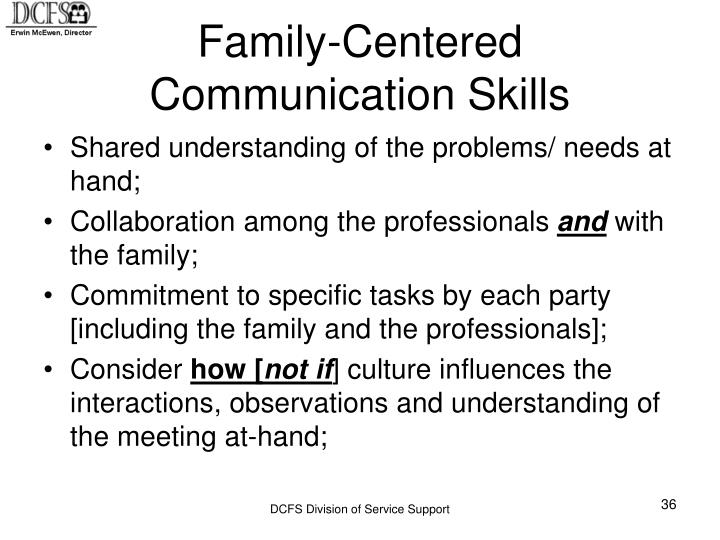 Family-Centered Communication Skills