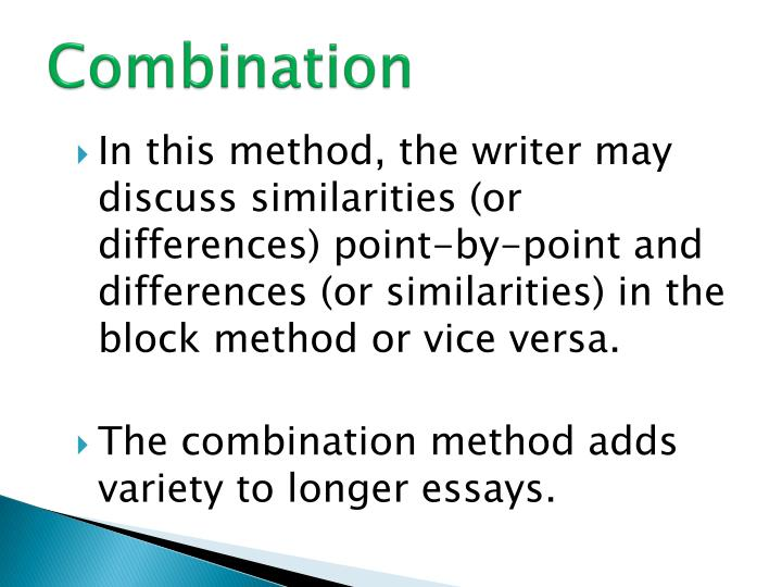 block method essay outline Block vs point-by-point organization in comparison/contrast essays block structure in block structure you write about each topic in a separate block.