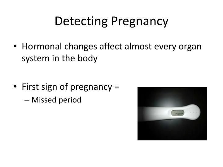 Detecting Pregnancy