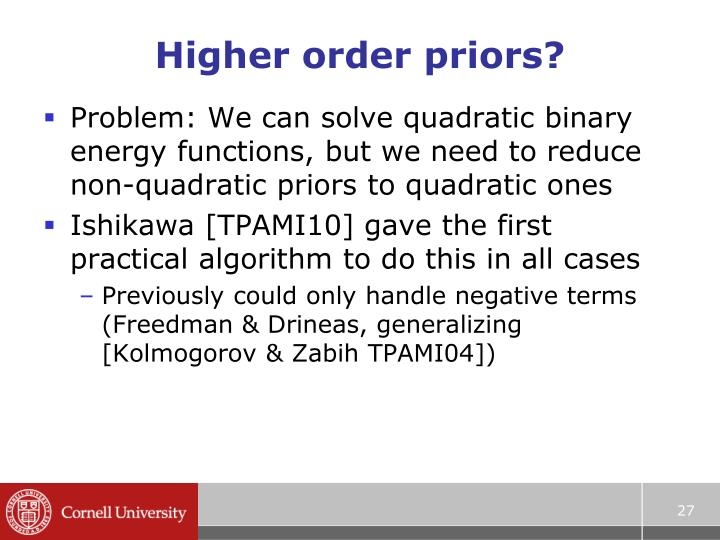 Higher order priors?