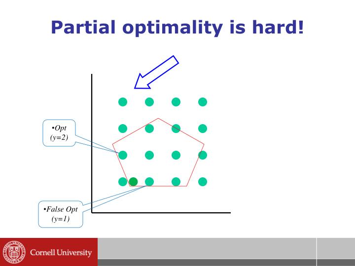 Partial optimality is hard!