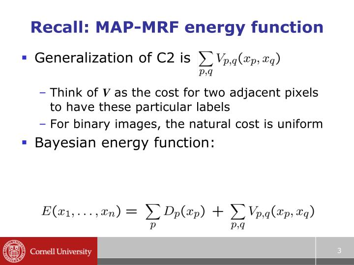 Recall map mrf energy function