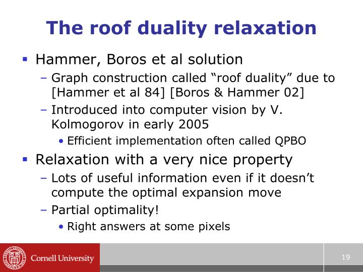 The roof duality relaxation