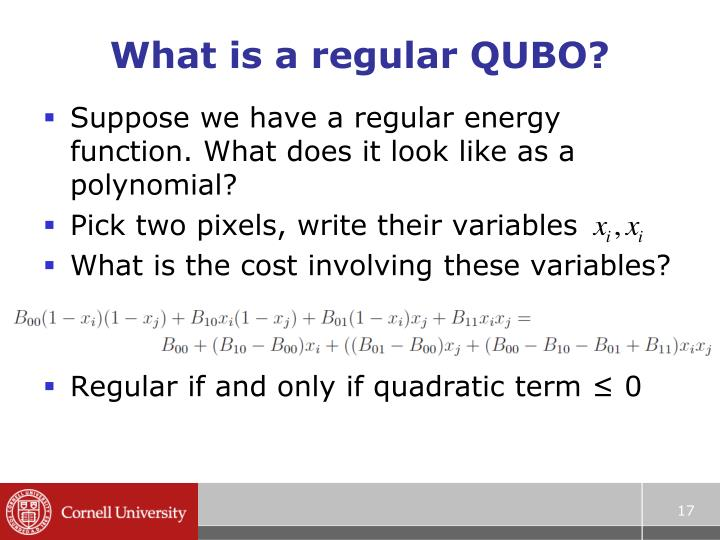 What is a regular QUBO?