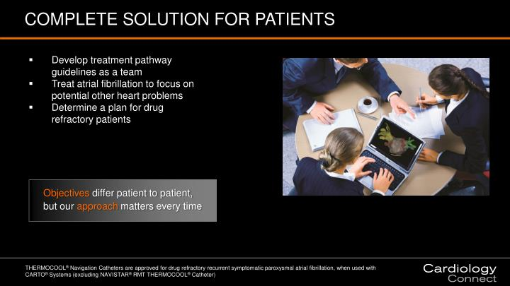 COMPLETE SOLUTION FOR PATIENTS