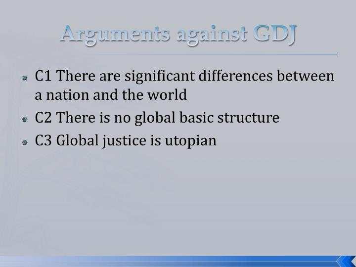 Arguments against GDJ