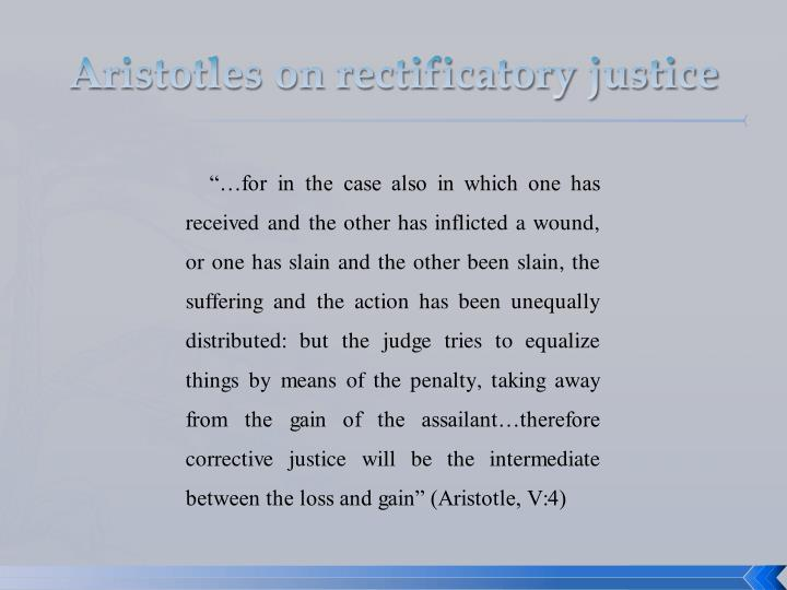 Aristotles on rectificatory justice