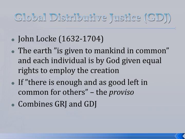 Global Distributive Justice (GDJ)