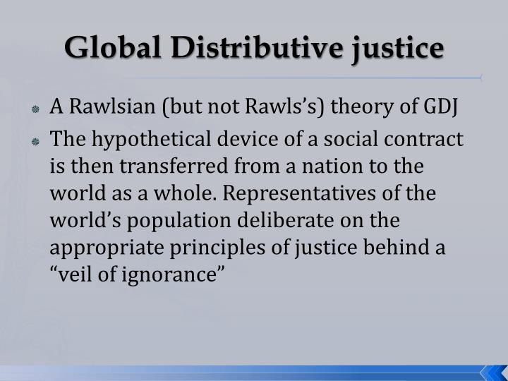 equal distribution of advantage in rawls explanation of distributive justice They must design their society behind what rawls calls the veil of ignorance an equal distribution of of justice veil of ignorance.
