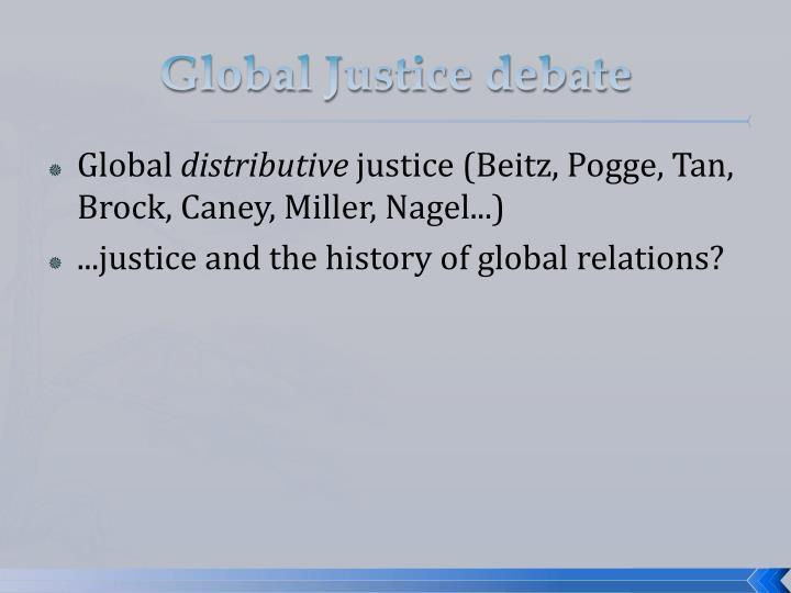 Global Justice debate
