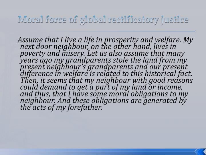 Moral force of