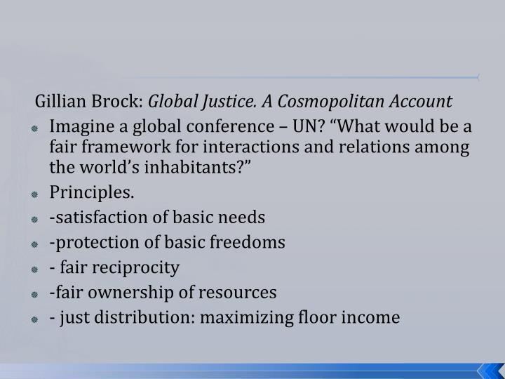 Gillian Brock: