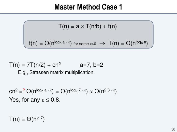 Master Method Case 1